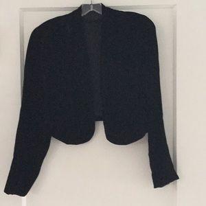 Balck velvet bolero jacket: Velvet is in!